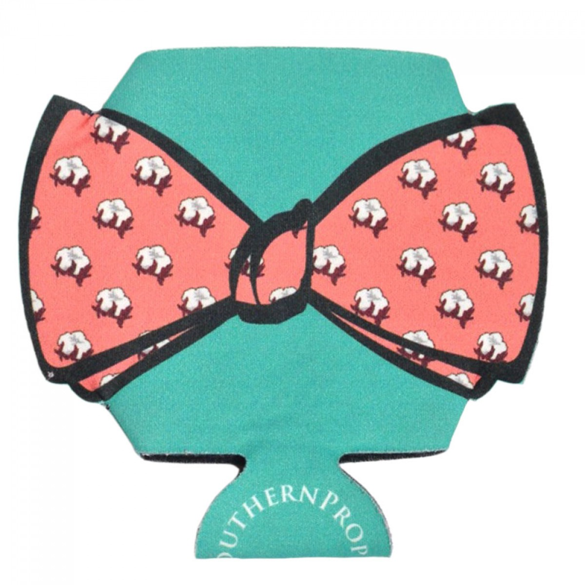 Pink Cotton Bowtie Coozie